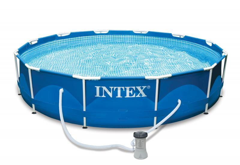 Intex metallrahmenbecken intex for Billige poolfolien