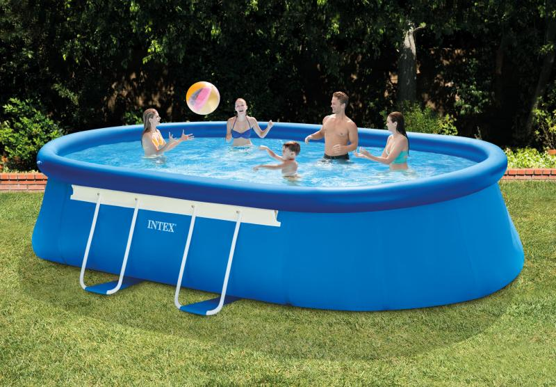 Intex swimming pool oval frame intex for Pool oval aufstellbecken