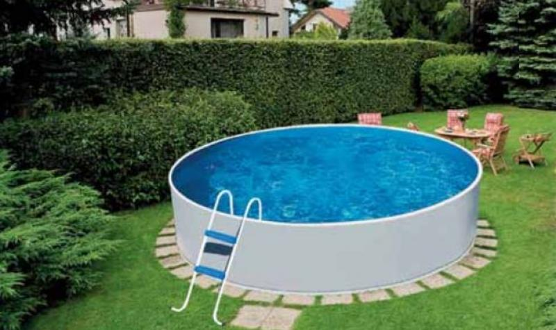 Mountfield azuro rund wei aufstellbecken mountfield for Billige poolfolien