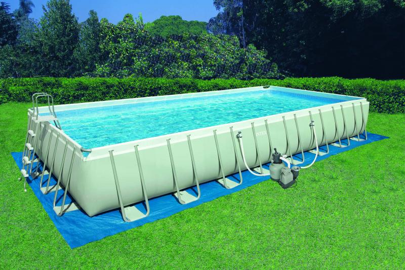 Ultra frame rechteckig intex for Billige poolfolien